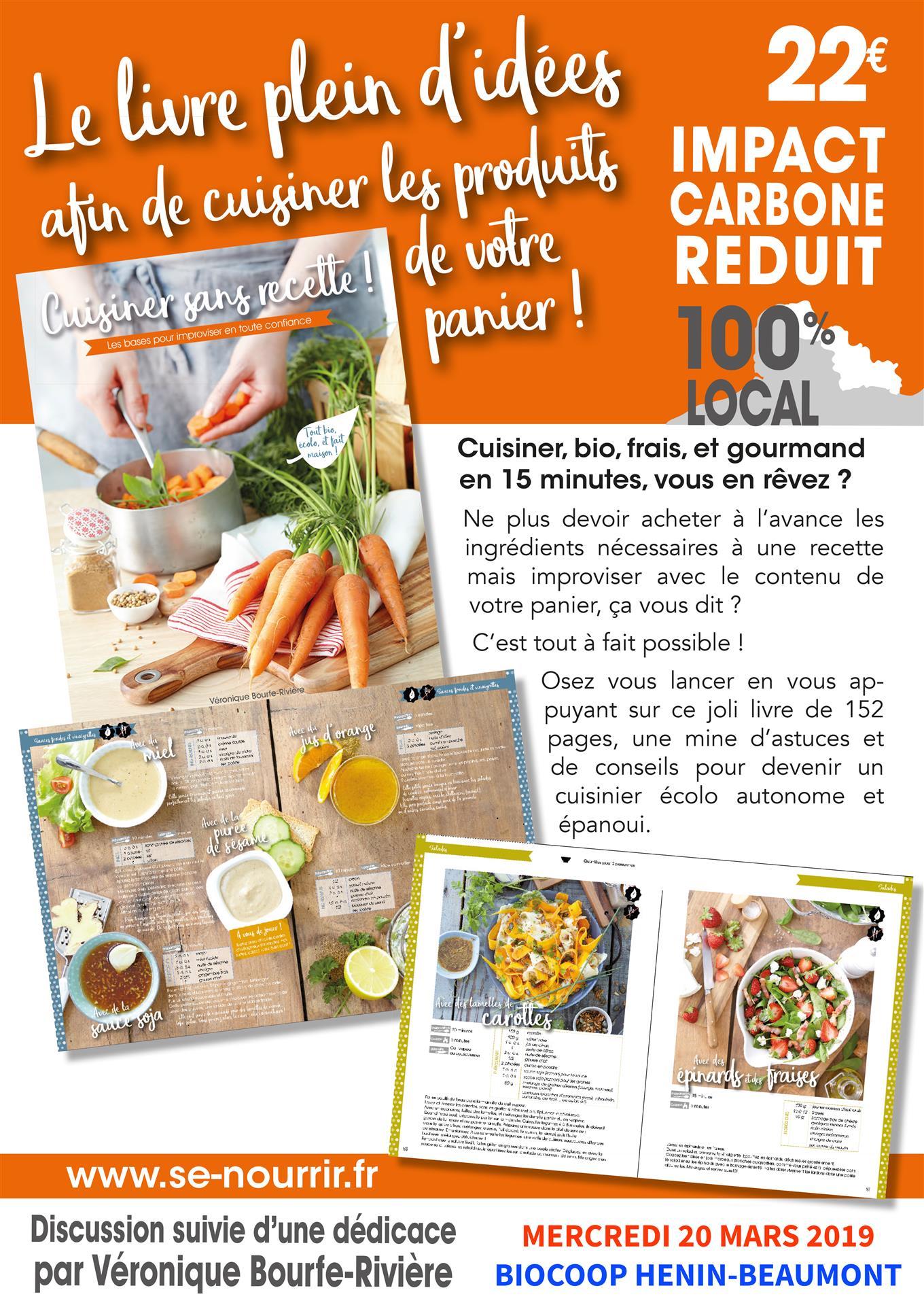 Cours De Cuisine Henin Beaumont atelier cuisine et dédicace : véronique bour fe-rivière à
